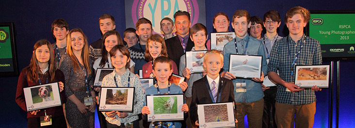 RSPCA YPA Winners with Chris Packham © RSPCA